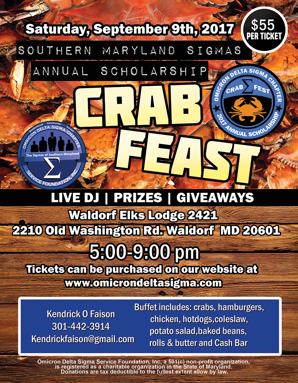 Crab Feast general flyer